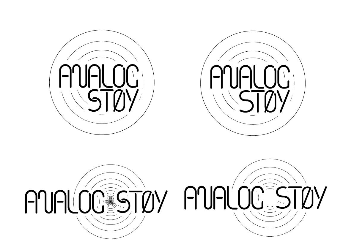 Suggestions that client looked at for analogstøy logo