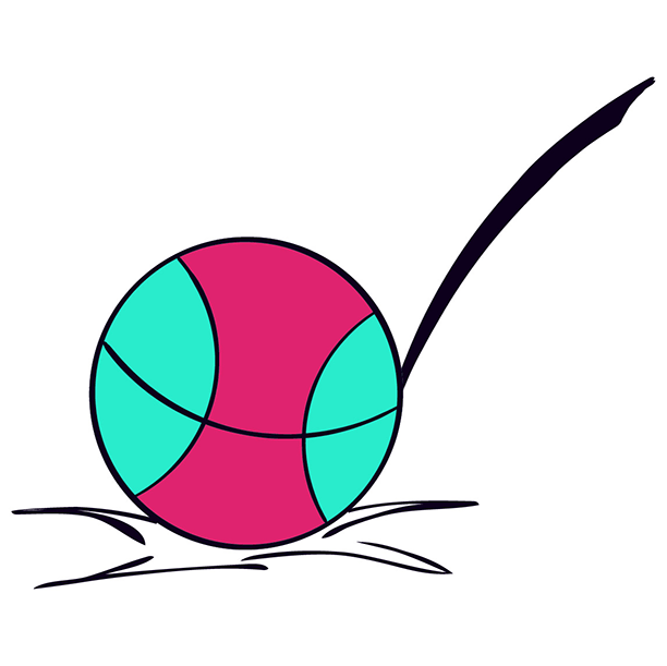 PE/sports illustration for course page - bouncing ball
