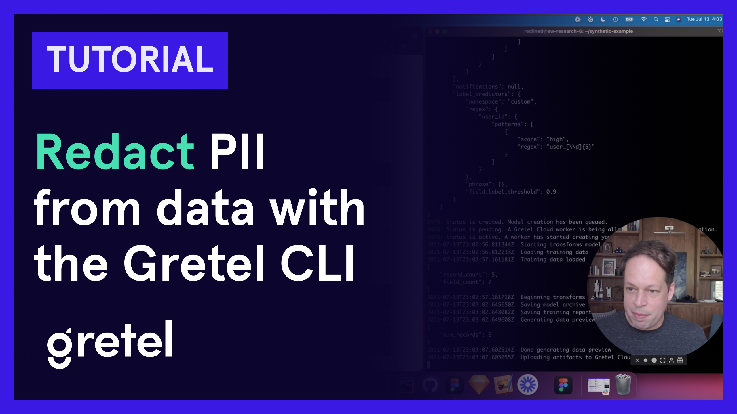 Redact PII from data with the Gretel CLI
