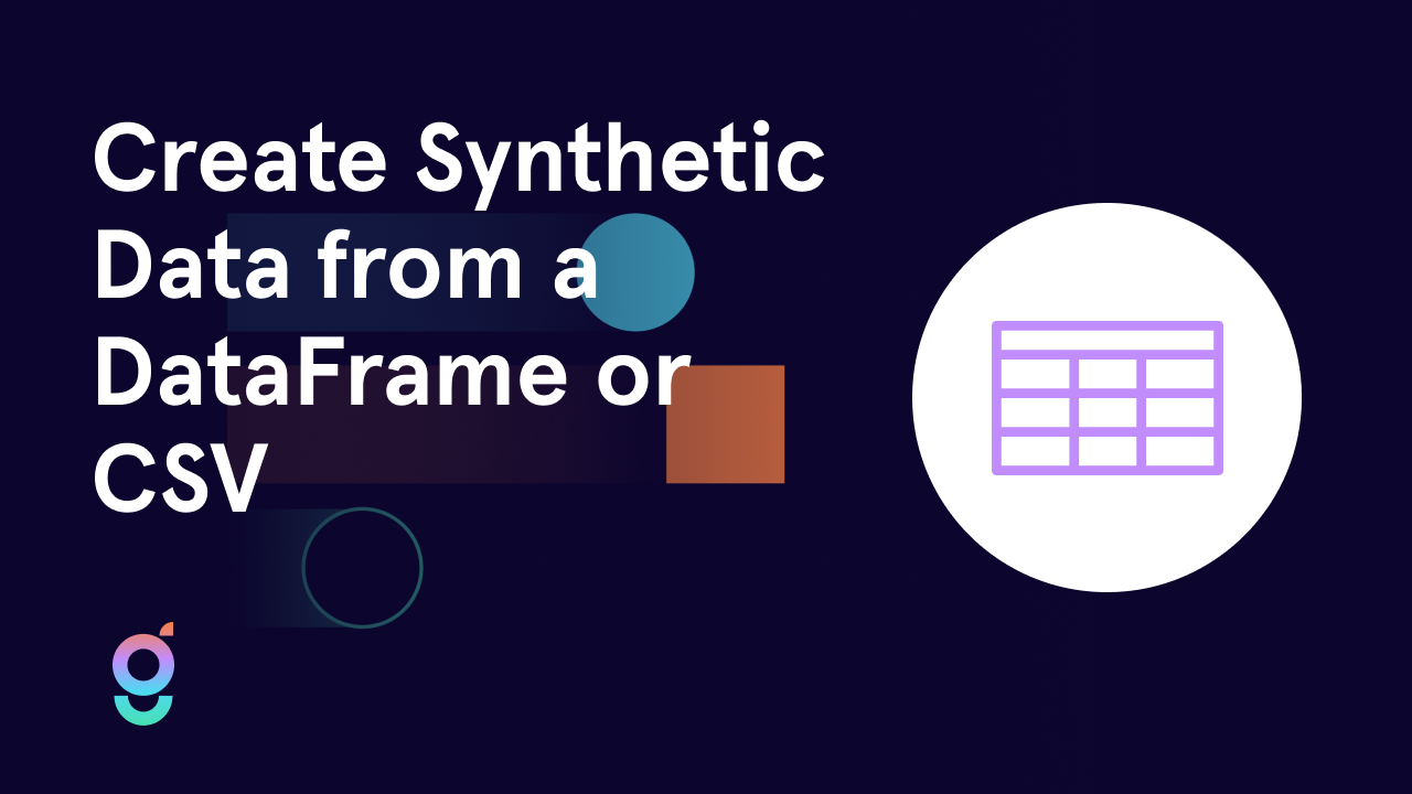 Use AI to Create Synthetic Data from a DataFrame or CSV