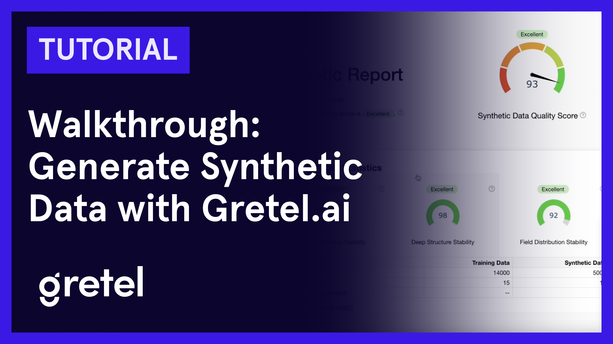 How to generate synthetic data with Gretel