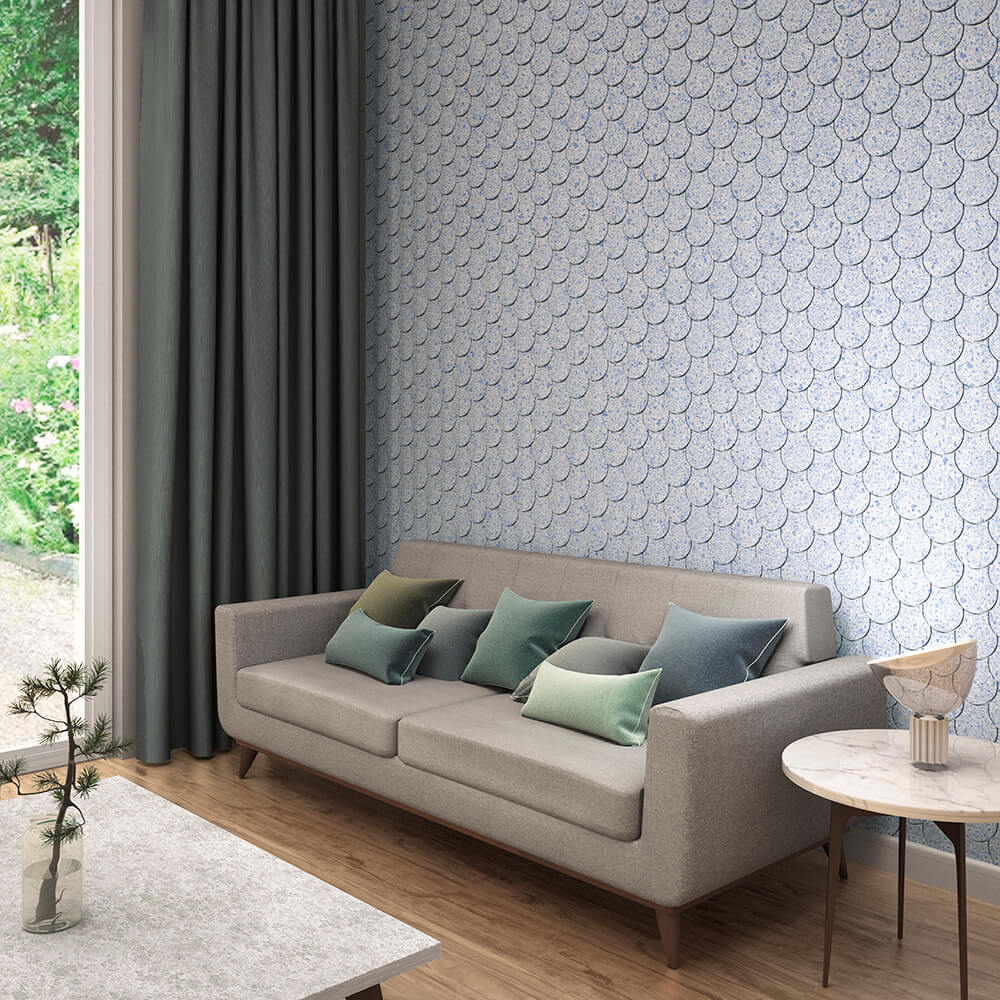 scale tiling wall living room