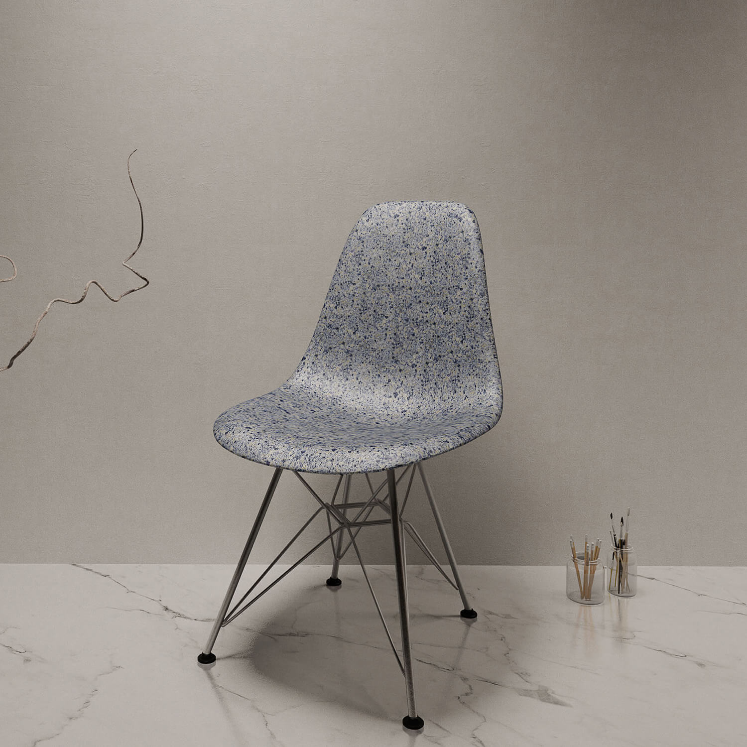 chair made from scalite