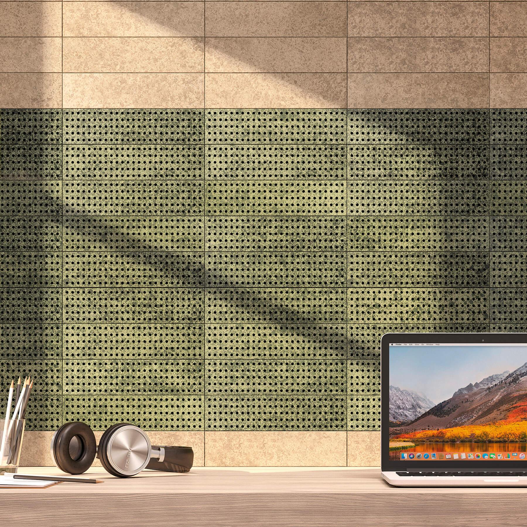 scalite wall tils green