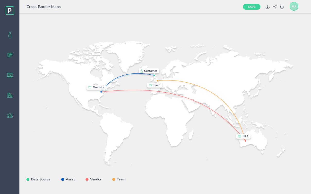 Cross Border Transfer Map