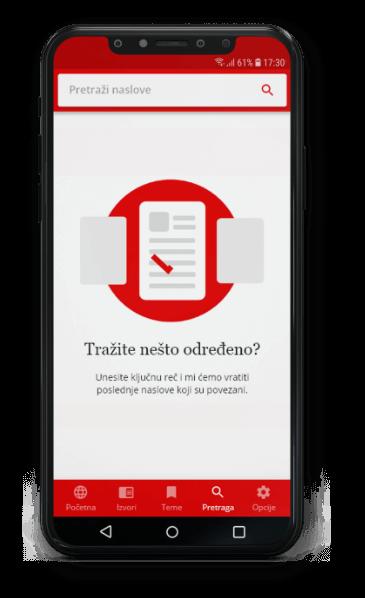 K7 Tech Novine Srbija App Pretraga