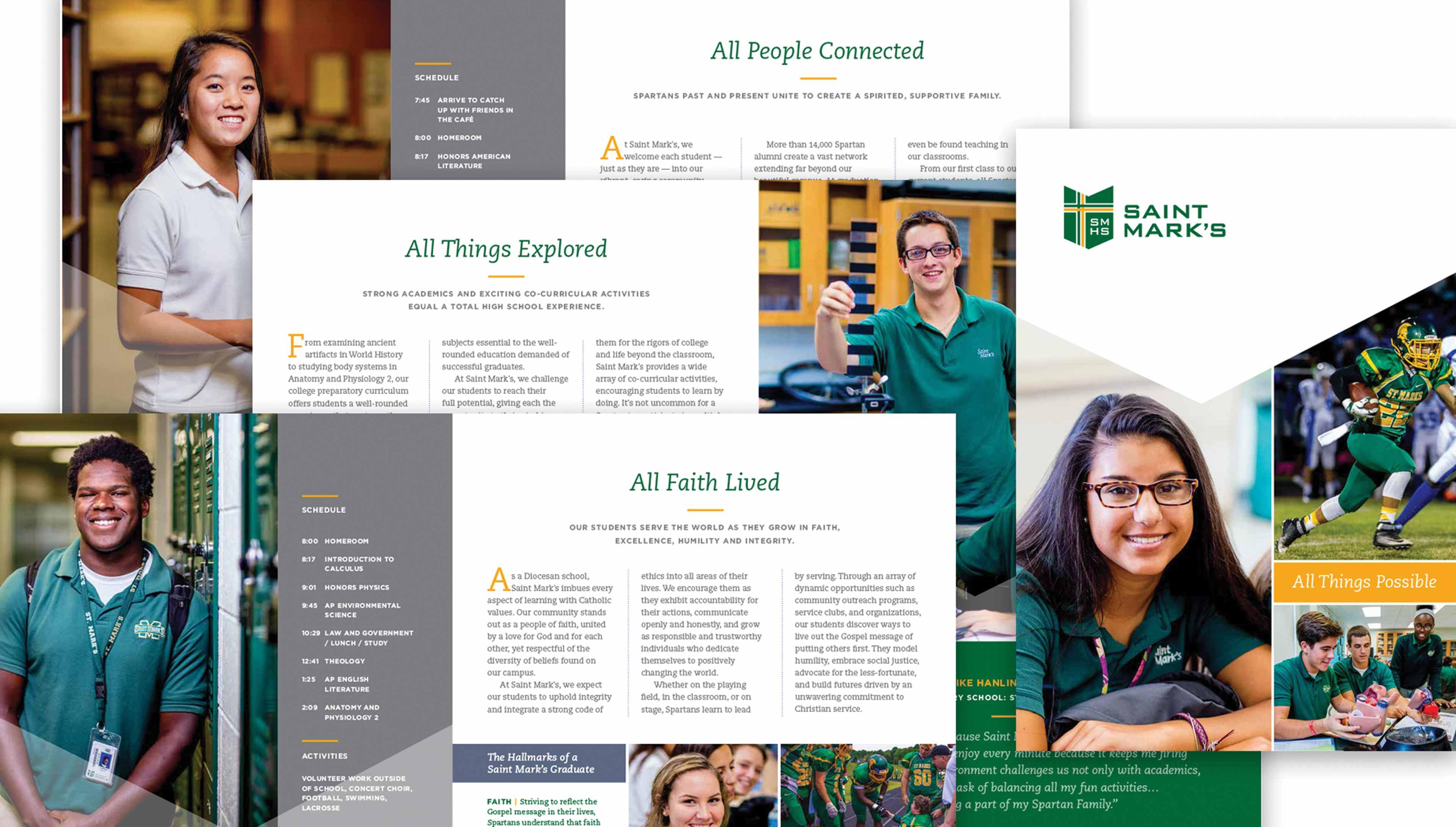 Catholic diocesan admissions brochure