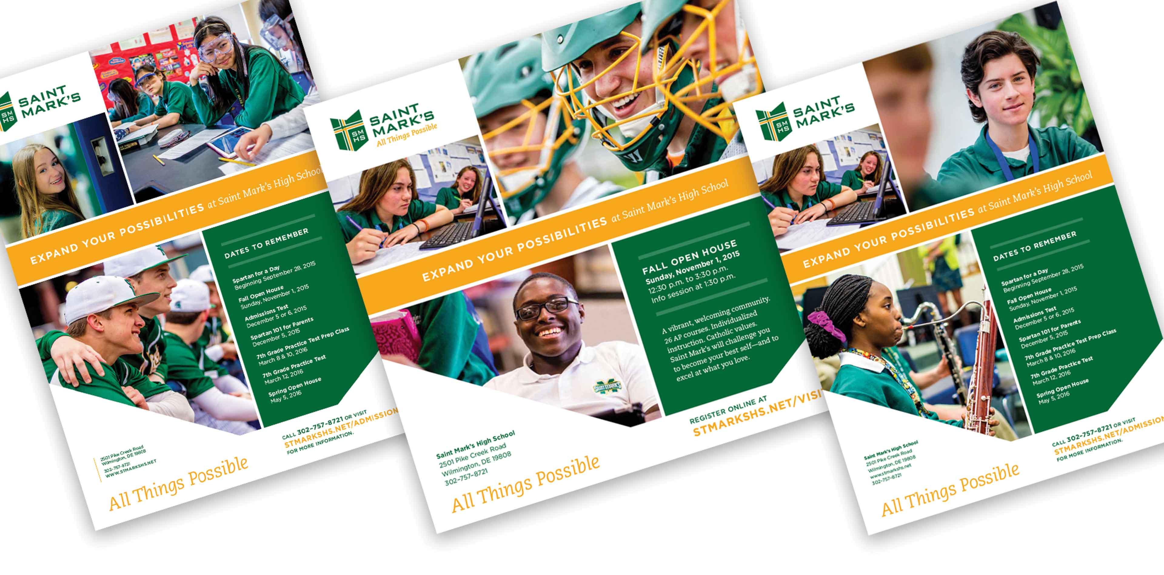 Catholic diocesan high school admissions brochure
