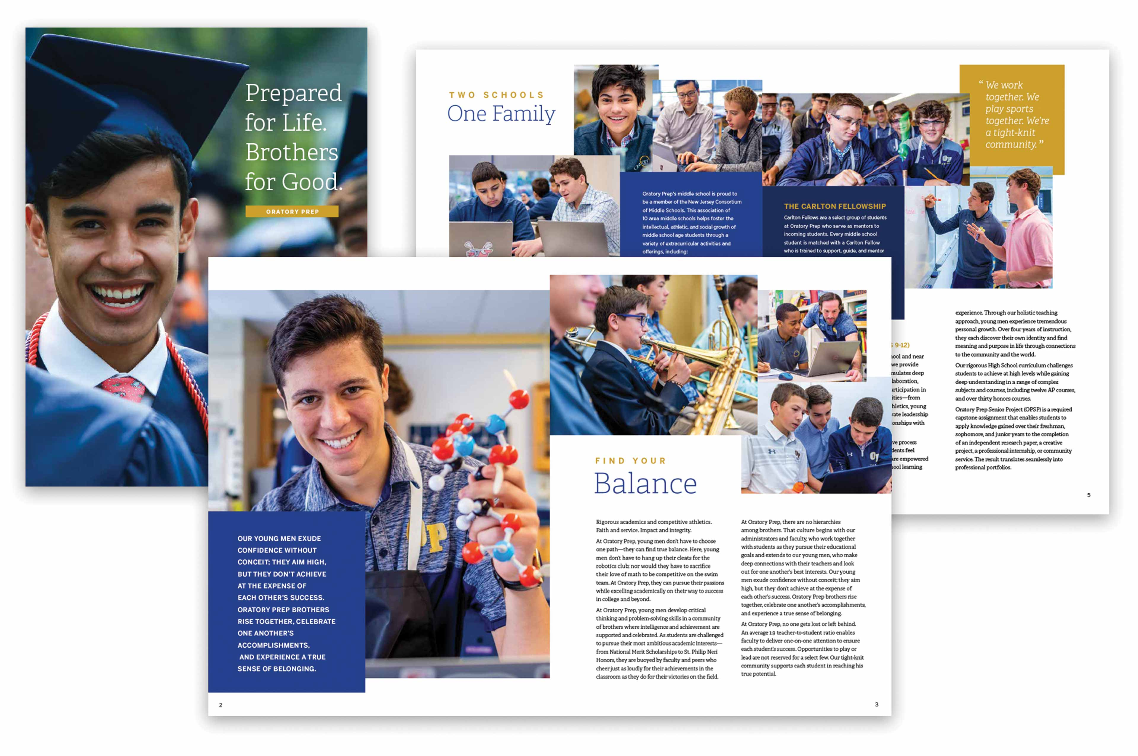 Catholic independent school admissions viewbook