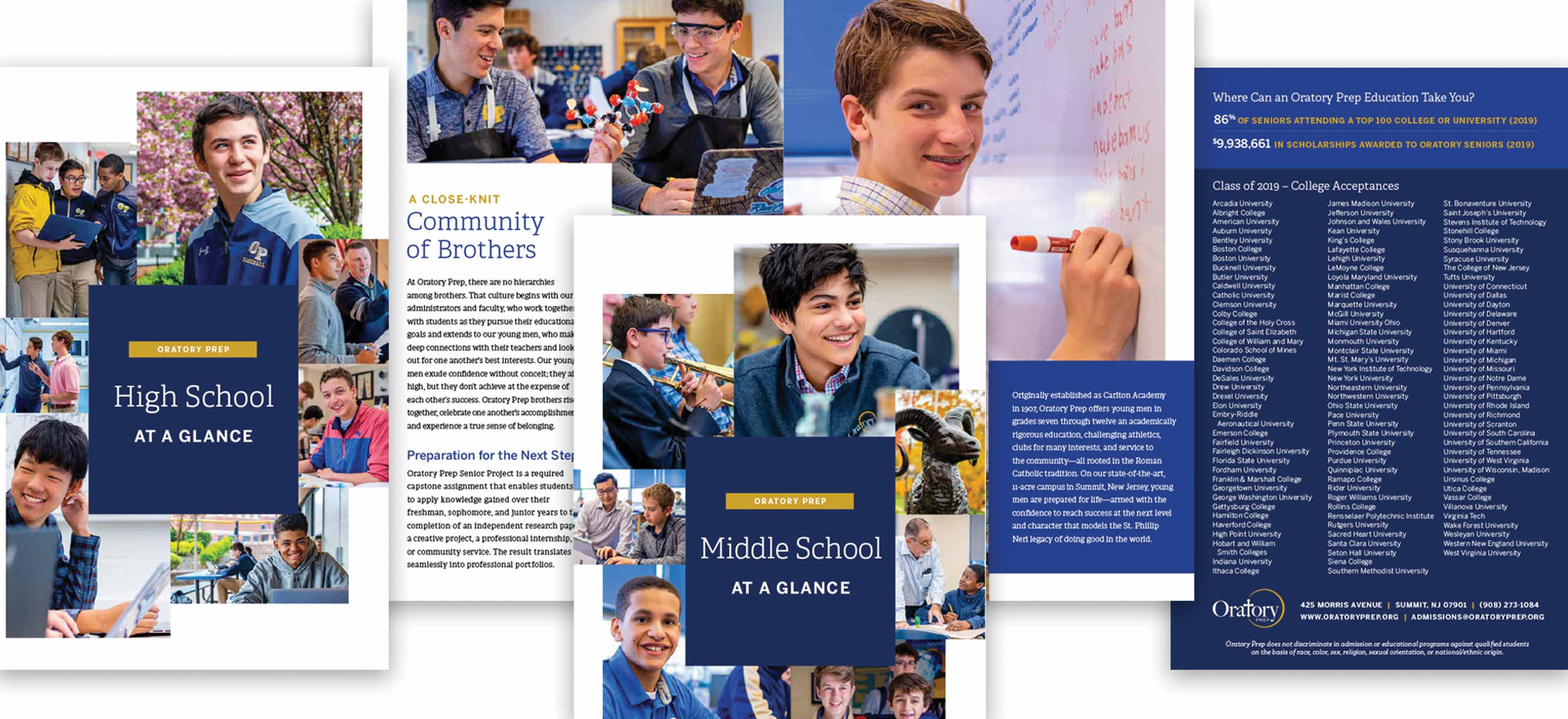 Catholic independent school admissions brochure
