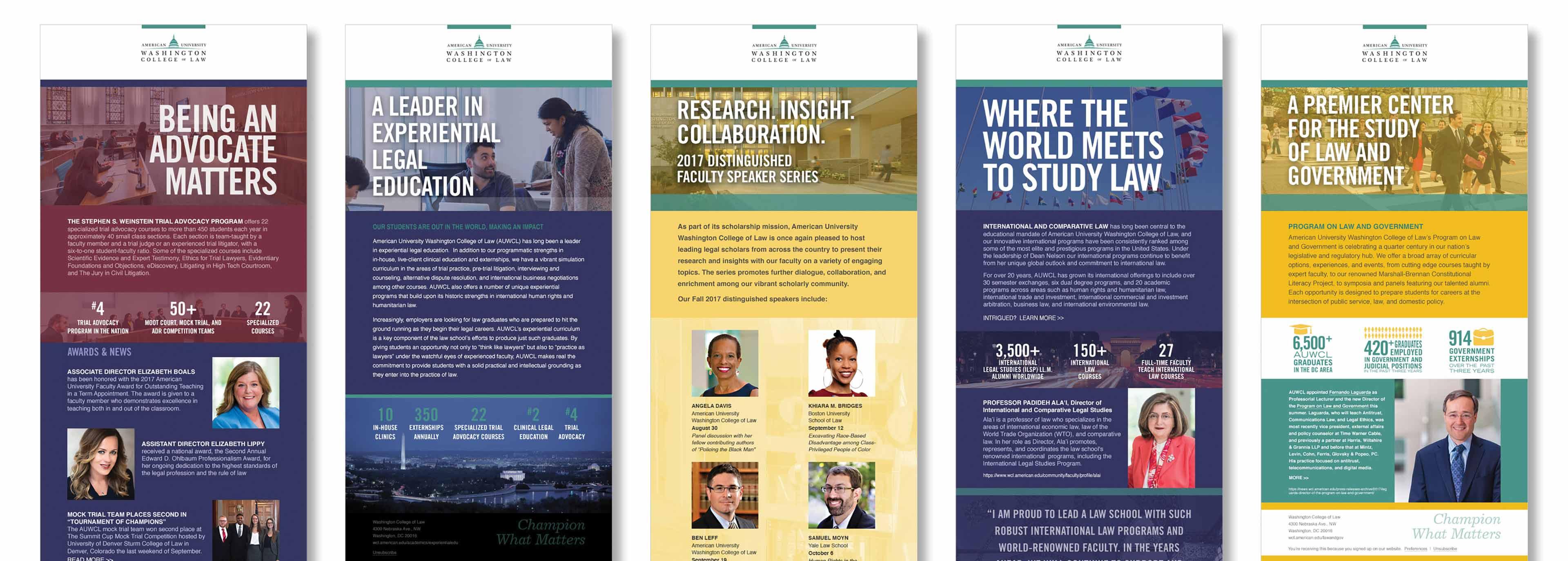 University law school rankings brochure