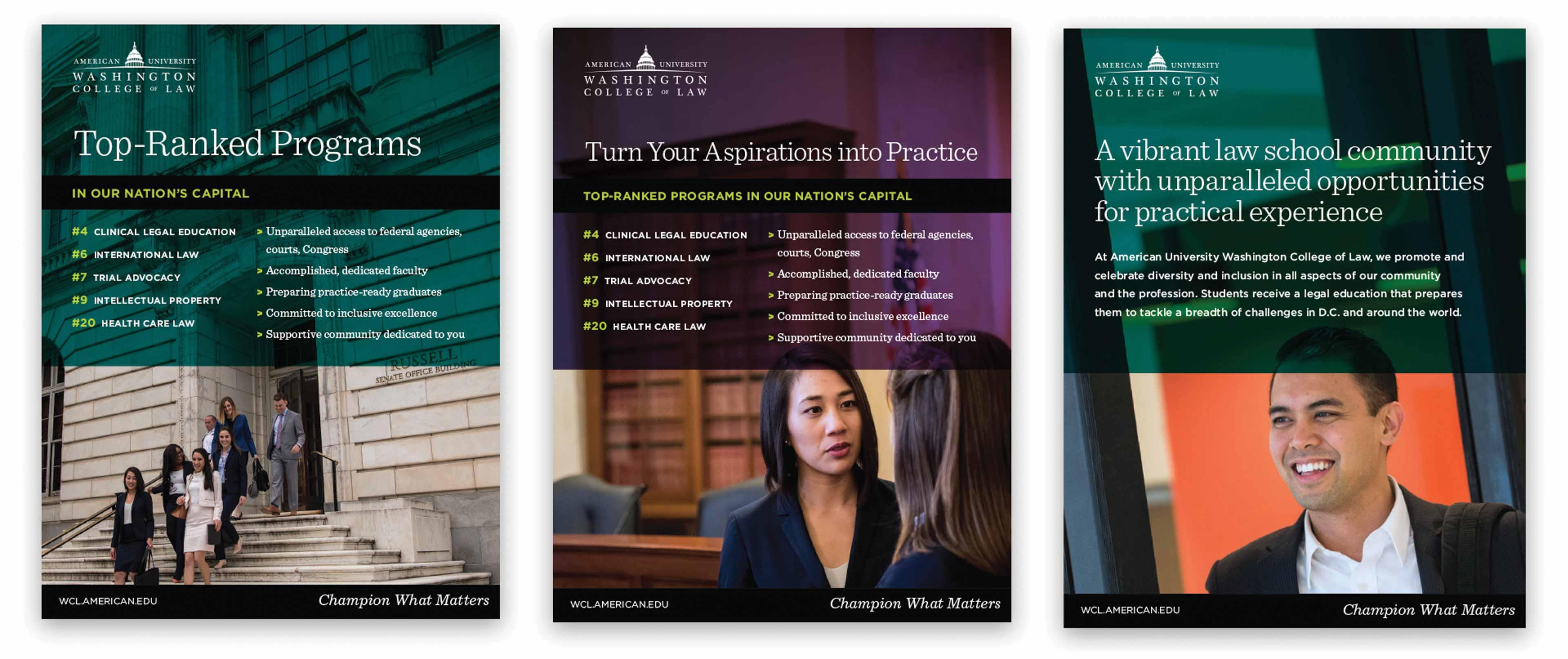 University law school ads