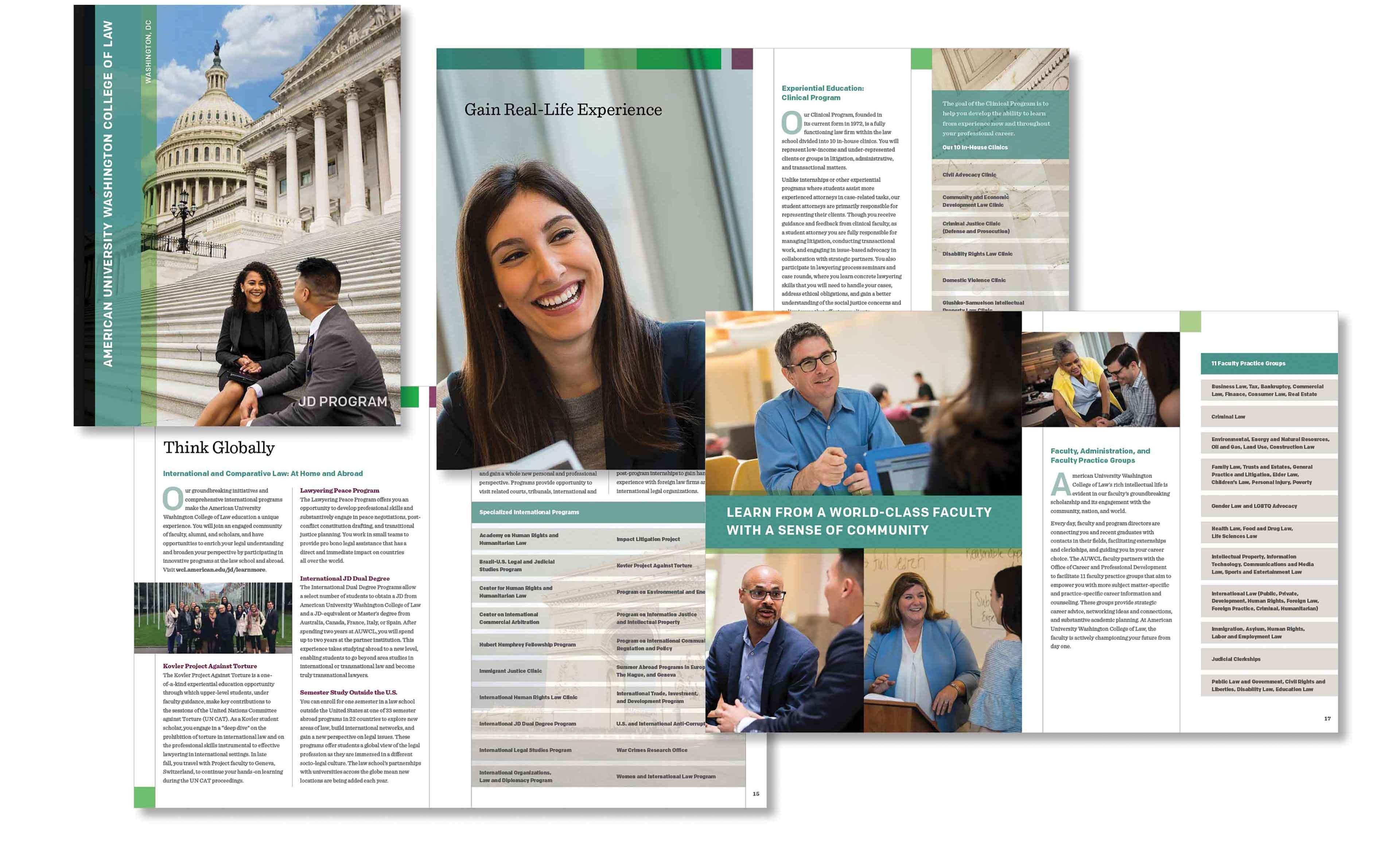 University law school program brochure