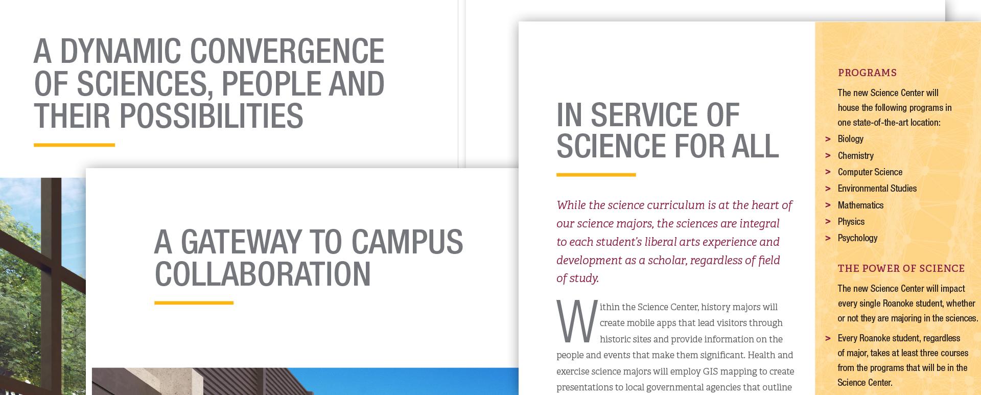 College campaign case statement