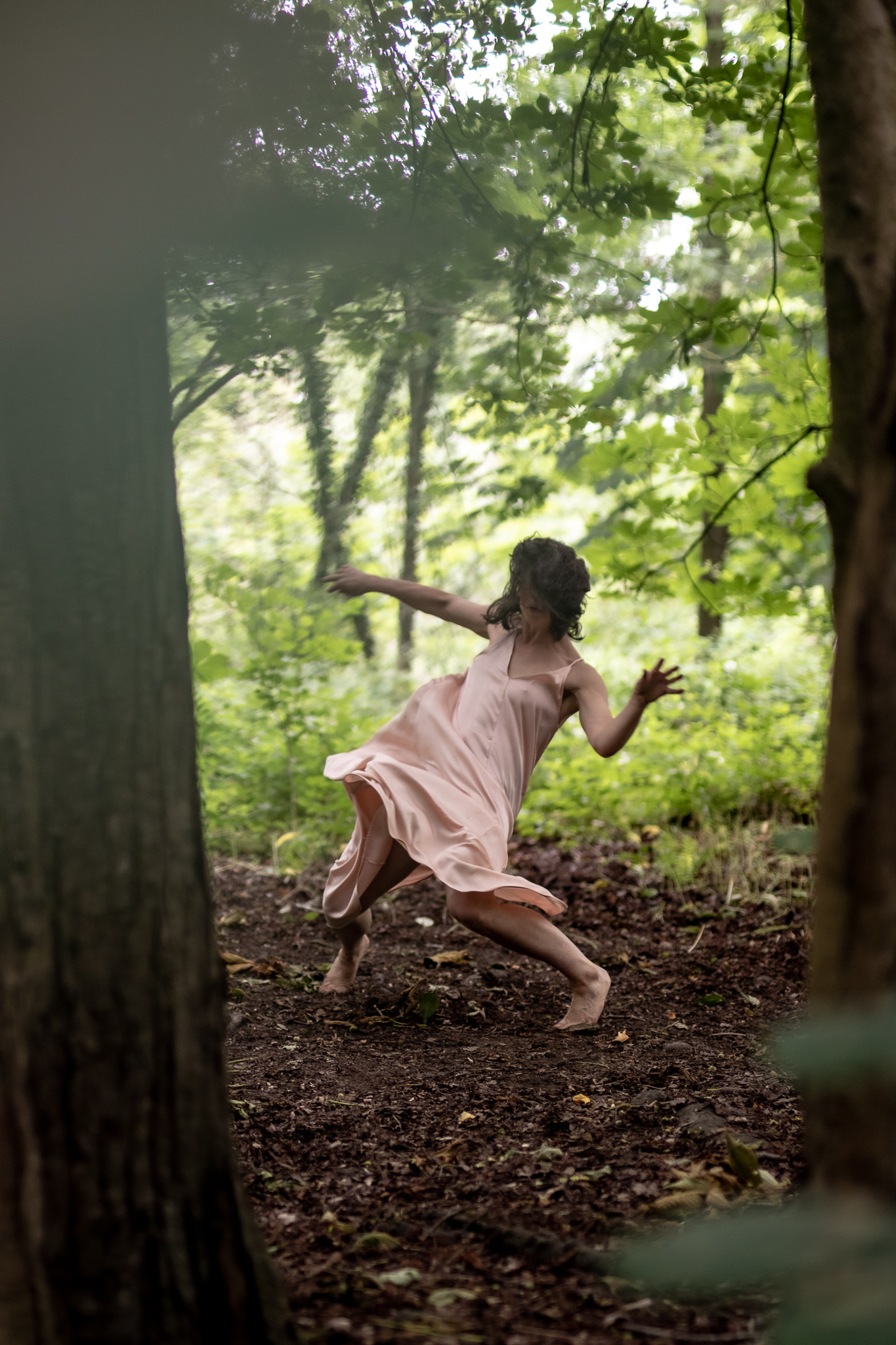 Abstract image of a dancer in the forest