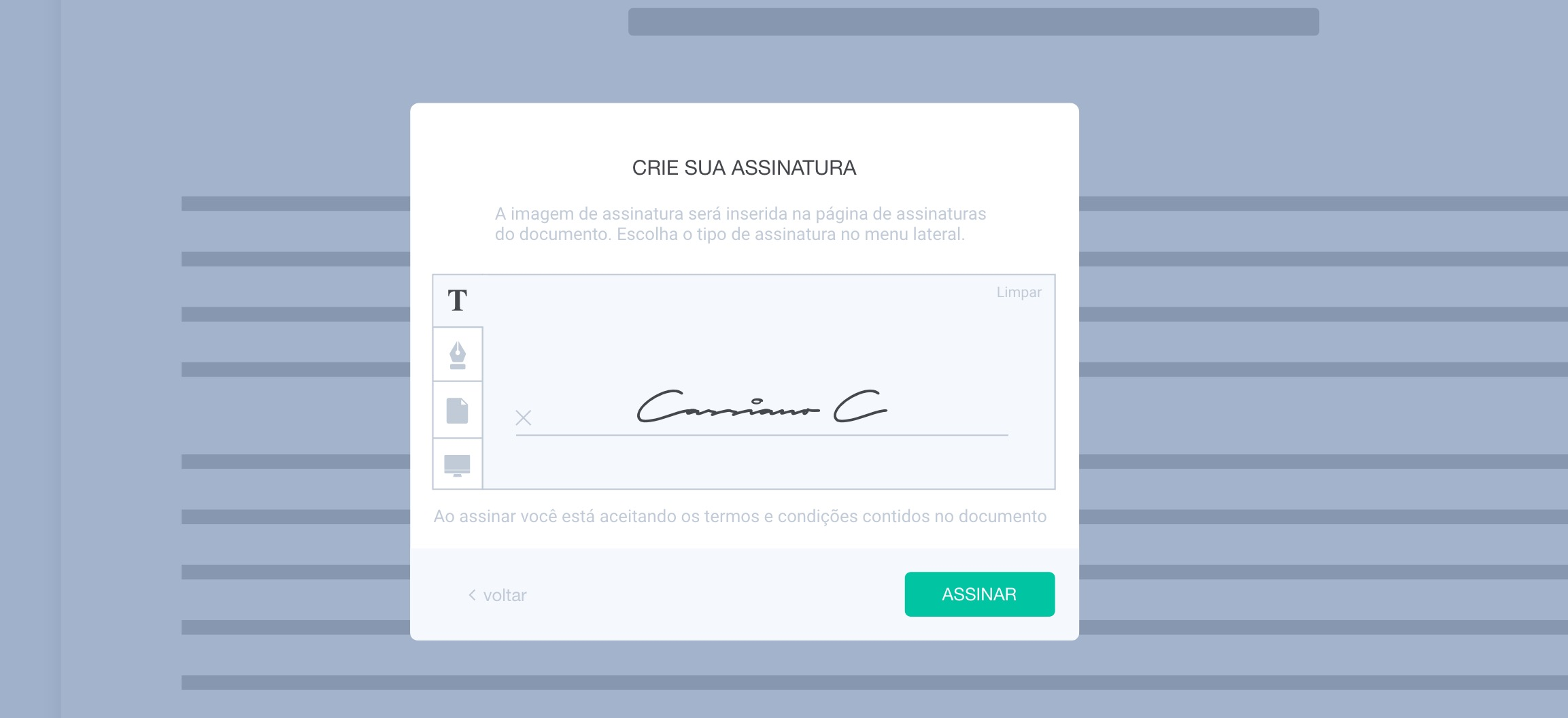 Personalizar Assinatura