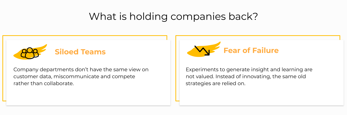 Siloed teams and fear of failure are holding companies back from enabling a growth culture.