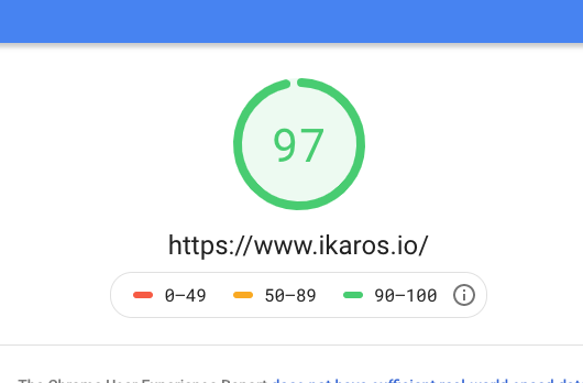 Google Page Speed Results for ikaros.io