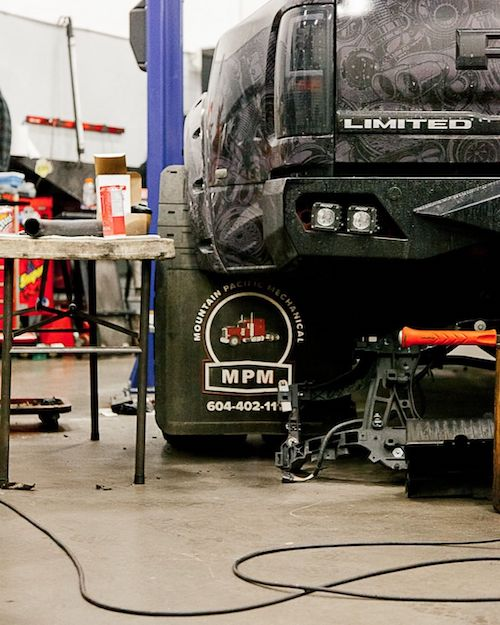 Mountain Pacific Mechanical in the JD Diagnostics & Diesel Repair Shop