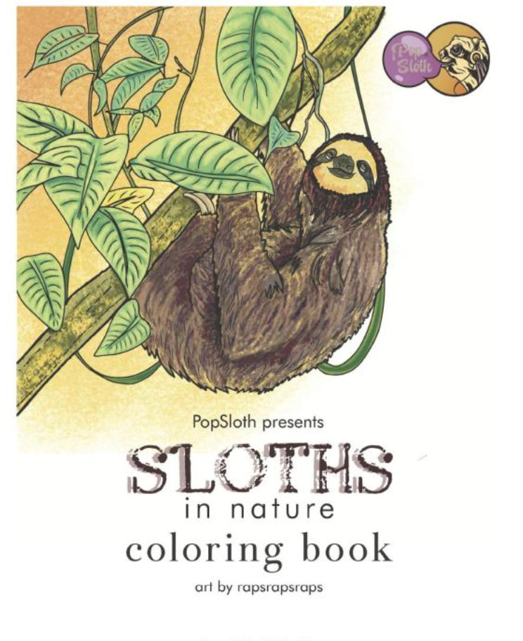 Adorable Sloth Baby Coloring Pages