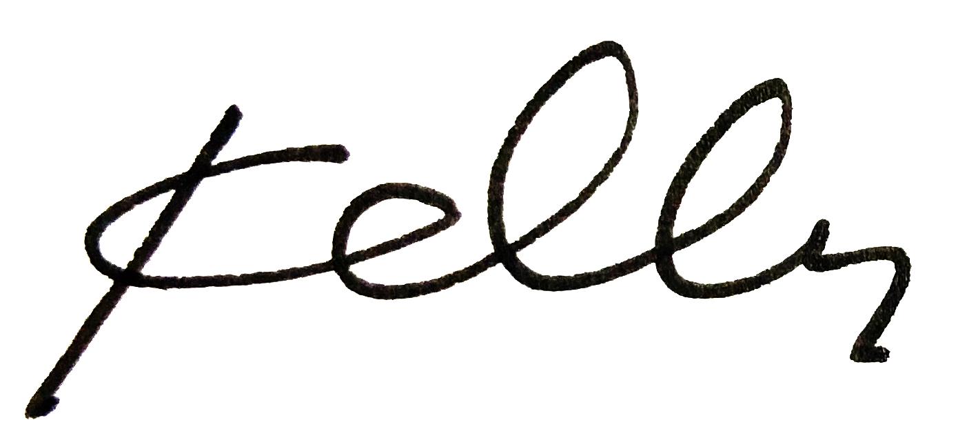 """Hand written """"Kelly"""""""
