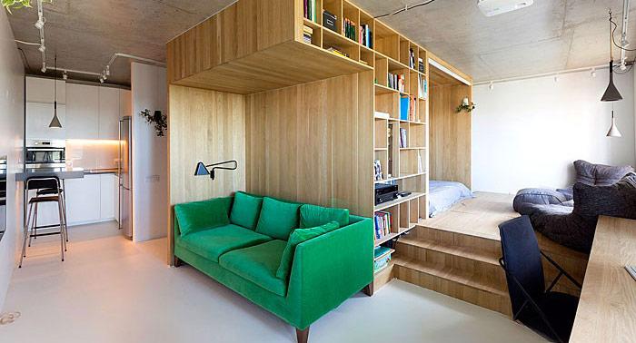 tận dụng không gian phía sau ghế sofa