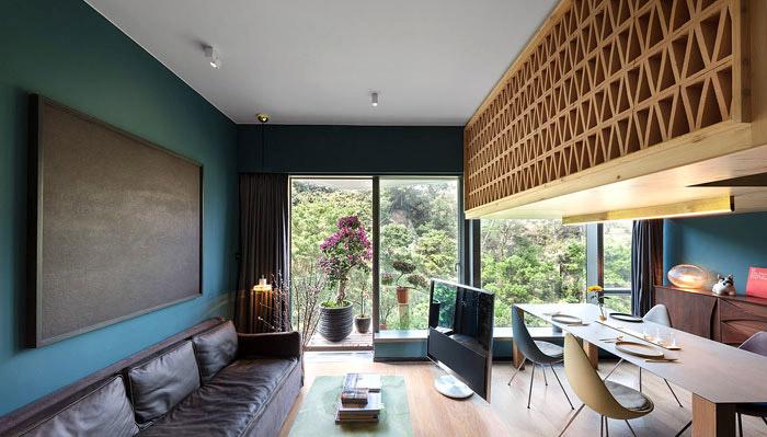 điểm nhấn ở trần thiết kế chung cư