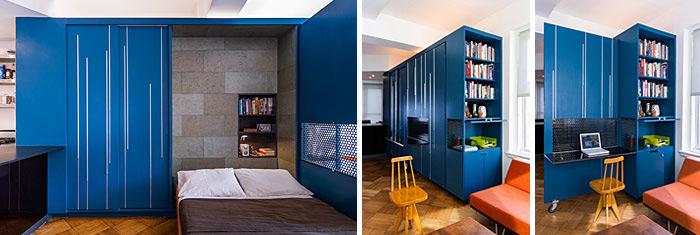 sử dụng tông màu đậm cho một số đồ nội thất