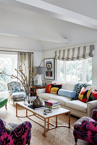 thiết kế phòng khách theo phong cách Hollywood