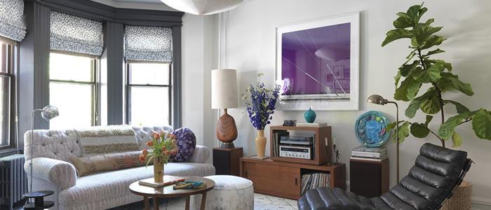 thiết kế phòng khách phong cách kiểu Brooklyn