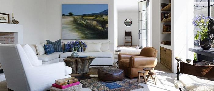 phòng khách theo hơi hướng hiện đại nguyên liệu tự nhiên