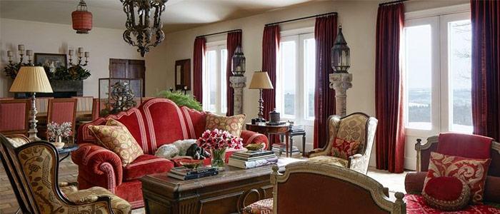 một thiết kế phòng khách miền quê ấm áp