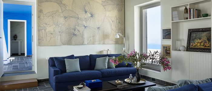 màu sắc miền duyên hải trong thiết kế phòng khách