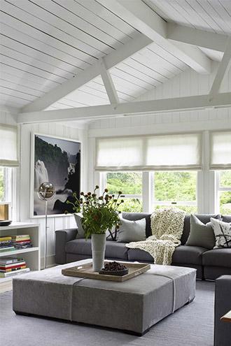 nội thất phòng khách mang màu sắc thiên nhiên