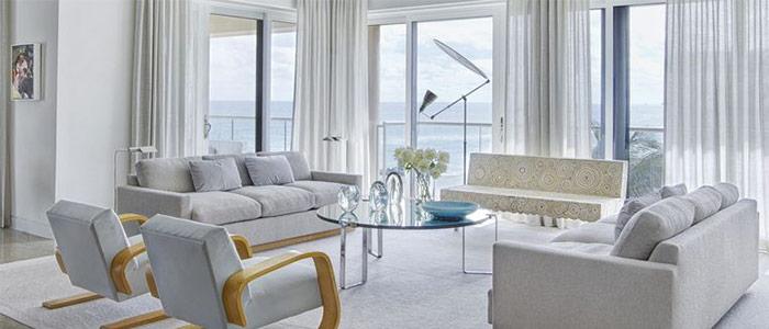 thiết kế phòng khách Palm Beach