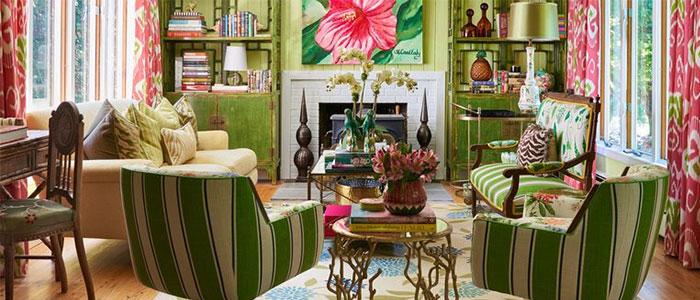 căn phòng khách đầy màu sắc Christian Siriano