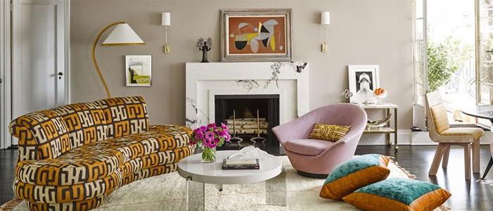 phòng khách của Marisa Tomei