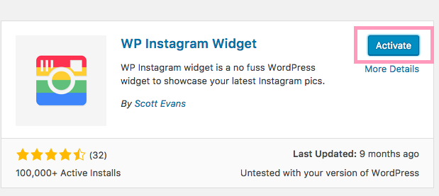 add Instagram widget Wordpress lipstick and pixels tutorial