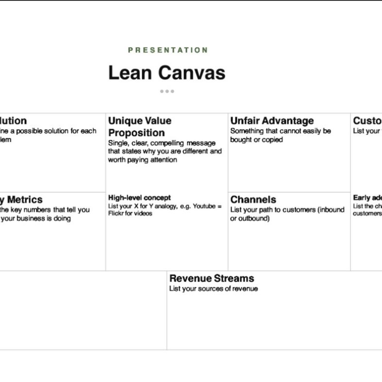 Lean Canvas Template preview