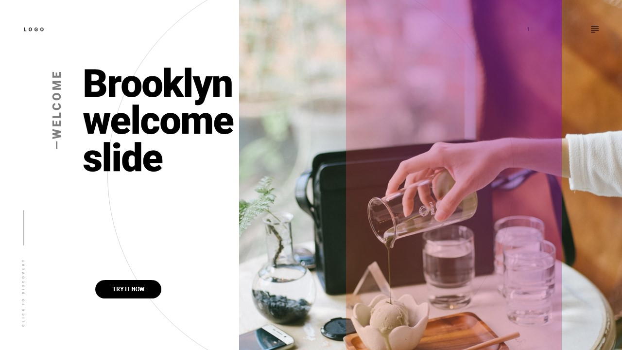 Brooklyn pitch deck template by Mad Creative Beanstalk.