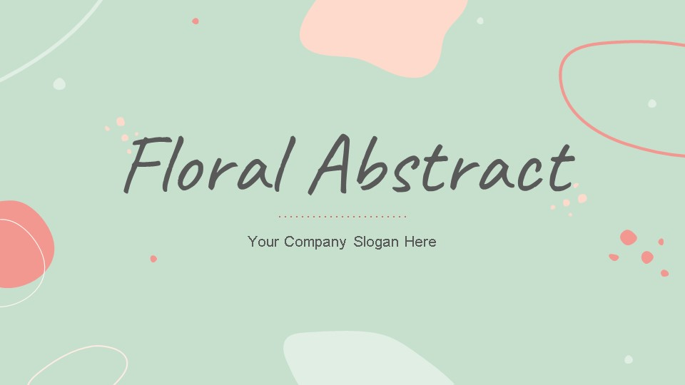 Floral Abstract pitch deck template by Mad Creative Beanstalk.