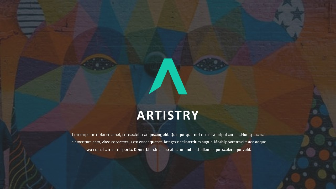 Artistry pitch deck template by Mad Creative Beanstalk.