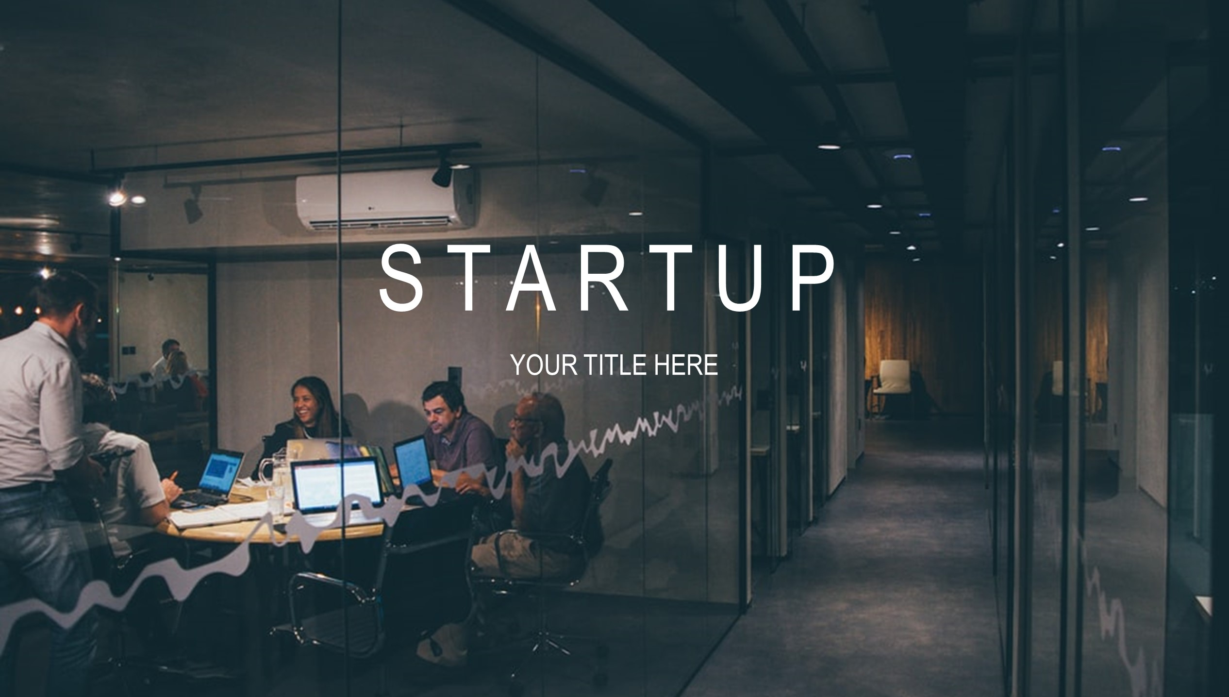 Startup pitch deck template cover by Mad Creative Beanstalk.