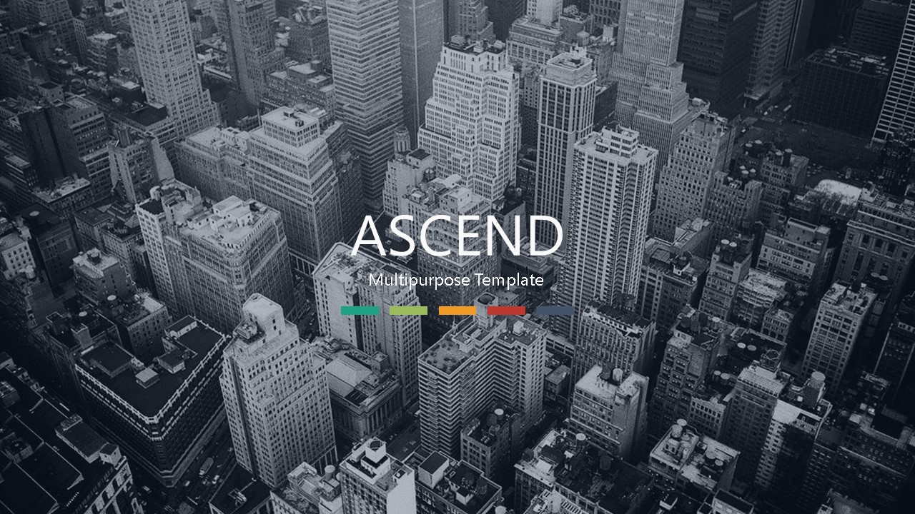 Ascend pitch deck template by Mad Creative Beanstalk.