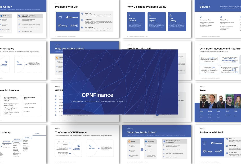 Creative makeover pitch deck presentation design