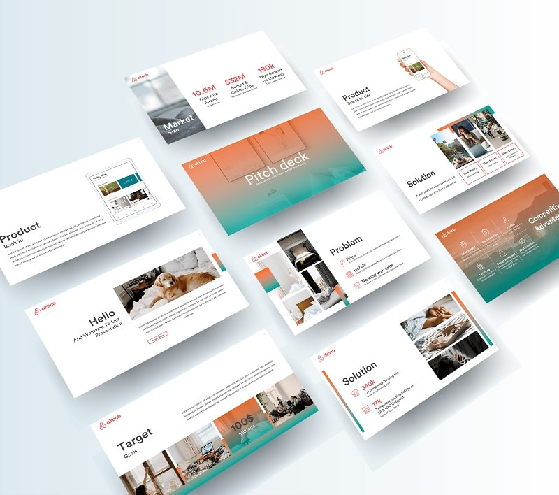 Airbnb Showcase Template Design