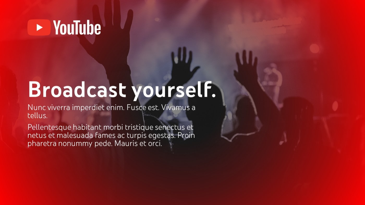 Youtube pitch deck template by Mad Creative Beanstalk.