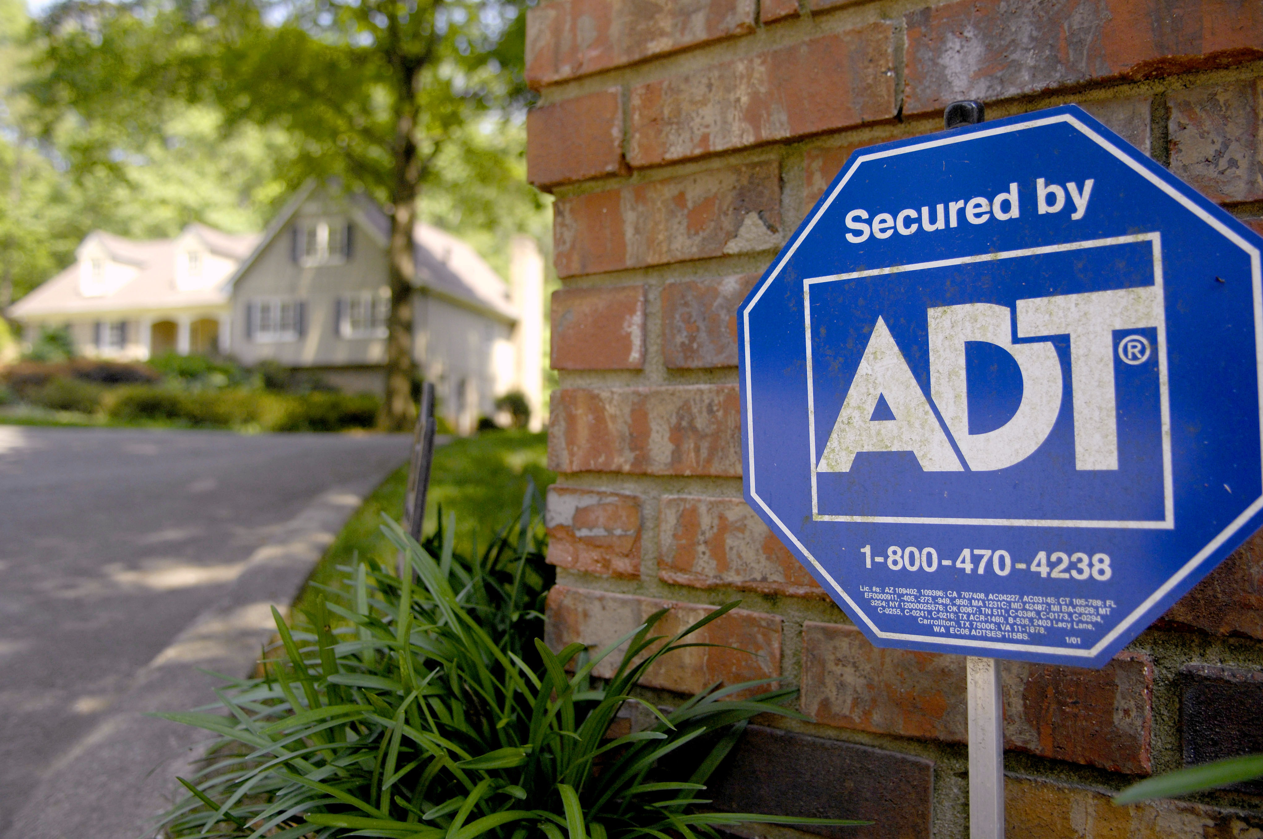 ADT Security lawn sign