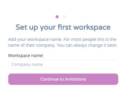 set up workspace name