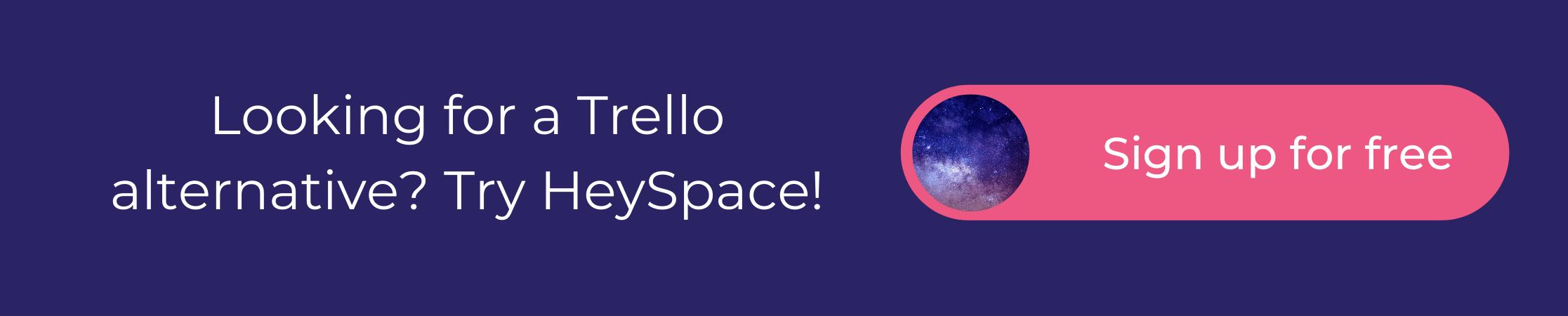 HeySpace - Trello alternative